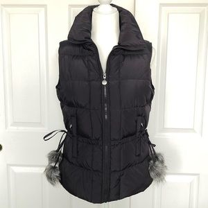 Charcoal gray Betsey Johnson down puffer vest